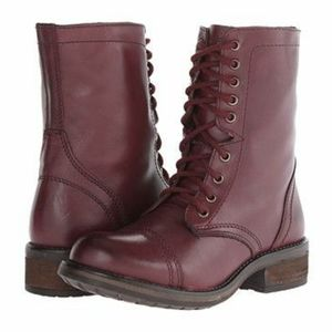 Steve Madden 'TROOPA2-0' combat boots Wine Leather